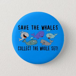 Bóton Redondo 5.08cm Salvar as baleias ajustadas