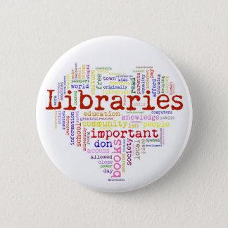 Bóton Redondo 5.08cm Salvar as bibliotecas 3