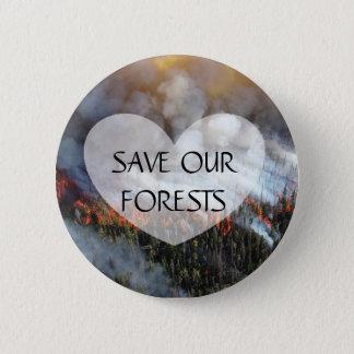 Bóton Redondo 5.08cm Salvar nosso botão do incêndio florestal das