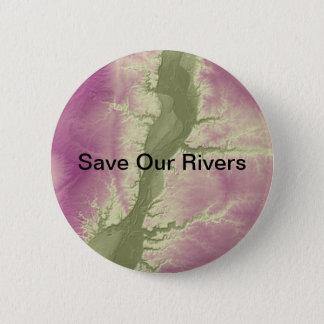 Bóton Redondo 5.08cm Salvar nosso texto Botão-editável ambiental dos