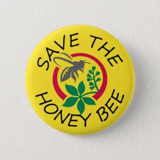 Bóton Redondo 5.08cm Salvar o botão da abelha do mel