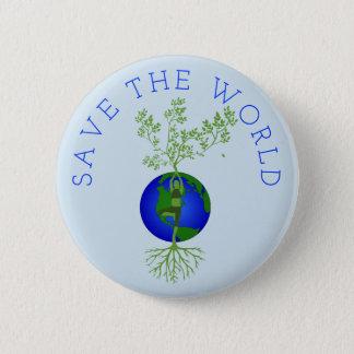 Bóton Redondo 5.08cm Salvar o mundo