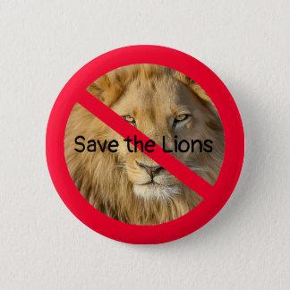Bóton Redondo 5.08cm Salvar os leões, botões das causas dos animais