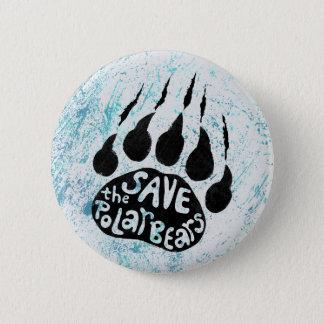 Bóton Redondo 5.08cm Salvar os ursos polares