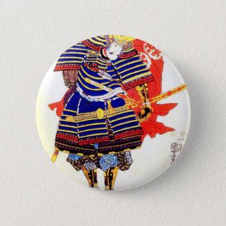 Bóton Redondo 5.08cm Samurai - 歌川国芳 de Utagawa Kuniyoshi