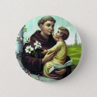Bóton Redondo 5.08cm Santo Antônio e menino Jesus