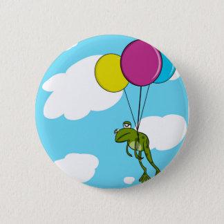 Bóton Redondo 5.08cm Sapo que flutua com balões