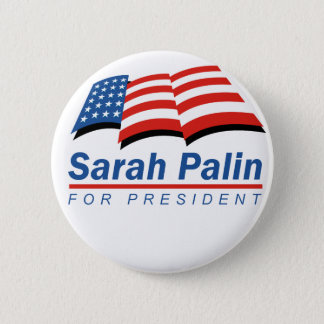 Bóton Redondo 5.08cm Sarah Palin para o presidente