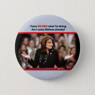 Bóton Redondo 5.08cm Sarah Palin: Sou eu cordas de salvamento do outta