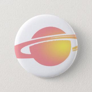 Bóton Redondo 5.08cm Saturn cor-de-rosa