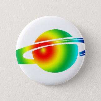 Bóton Redondo 5.08cm Saturn psicadélico