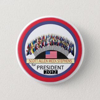 Bóton Redondo 5.08cm Scott Allen Stephens manso para o presidente 2012