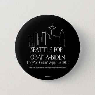 Bóton Redondo 5.08cm Seattle para o pino de Obama