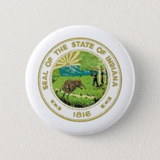 Bóton Redondo 5.08cm Selo do estado de Indiana