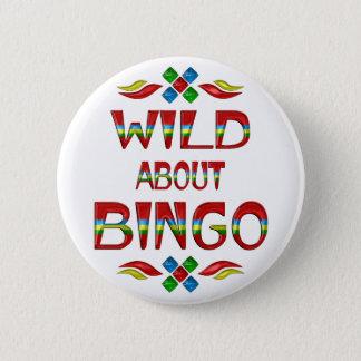 Bóton Redondo 5.08cm Selvagem sobre o Bingo