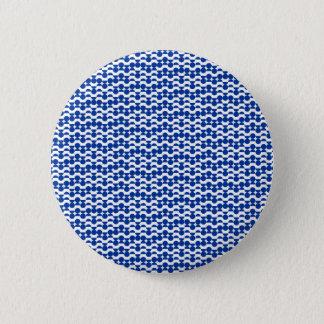 Bóton Redondo 5.08cm semi mosaico do azul do círculo