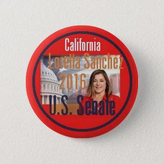 Bóton Redondo 5.08cm Senado 2016 de Loretta SÁNCHEZ