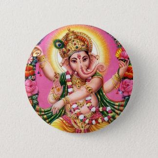 Bóton Redondo 5.08cm Senhor Ganesha da dança
