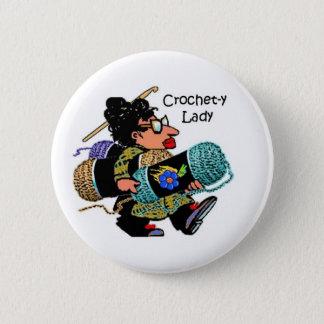 Bóton Redondo 5.08cm Senhora Botão do crochet-y