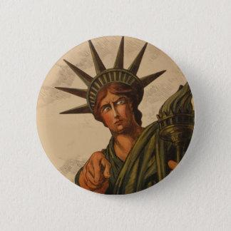 Bóton Redondo 5.08cm Senhora Liberdade Estar Pointing em você