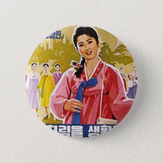 Bóton Redondo 5.08cm Senhoras coreanas que vestem Hanbok