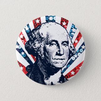 Bóton Redondo 5.08cm sequin George Washington