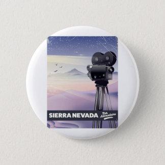 Bóton Redondo 5.08cm Serra poster de viagens de Nevada
