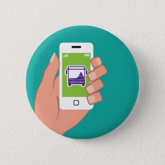 Bóton Redondo 5.08cm Serviço de autocarros da aplicação de Smartphone