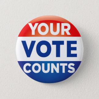 Bóton Redondo 5.08cm Seu voto conta o teste padrão