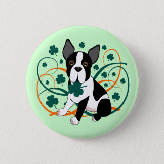 Bóton Redondo 5.08cm Shamrockin Terrier