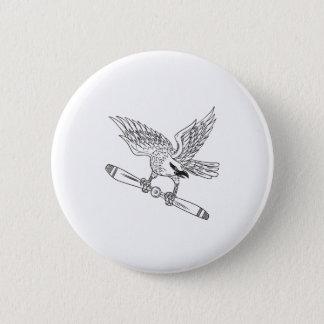 Bóton Redondo 5.08cm Shrike que embreia a lâmina de hélice D preto e
