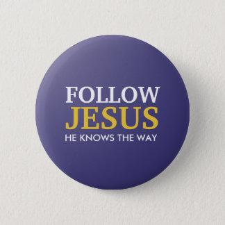 Bóton Redondo 5.08cm Siga Jesus que sabe a maneira
