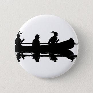 Bóton Redondo 5.08cm Silhueta da canoa