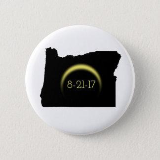 Bóton Redondo 5.08cm Silhueta total 2017 de Oregon do eclipse solar