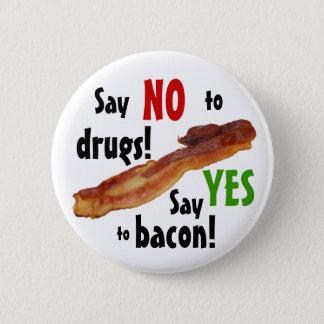 Bóton Redondo 5.08cm Sim ao bacon! Botão