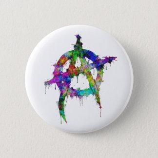 Bóton Redondo 5.08cm Símbolo da anarquia do arco-íris