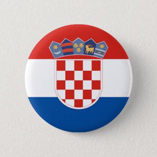 Bóton Redondo 5.08cm Símbolo da bandeira de país de Croatia por muito