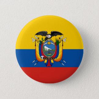 Bóton Redondo 5.08cm Símbolo da bandeira de país de Equador por muito