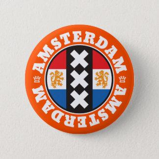 Bóton Redondo 5.08cm Símbolo da cidade de Amsterdão XXX com bandeira