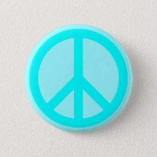 Bóton Redondo 5.08cm Símbolo de paz do Aqua
