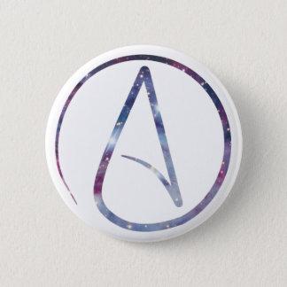 Bóton Redondo 5.08cm Símbolo do ateu do espaço