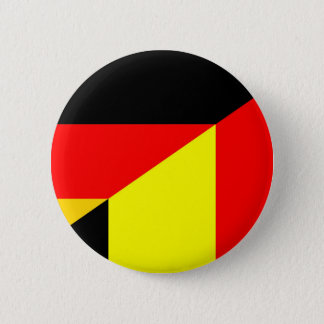 Bóton Redondo 5.08cm símbolo do país da bandeira de Alemanha Bélgica