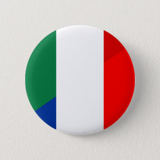 Bóton Redondo 5.08cm símbolo do país da bandeira de Italia france meio