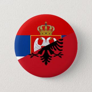 Bóton Redondo 5.08cm símbolo do país da bandeira de serbia Albânia meio