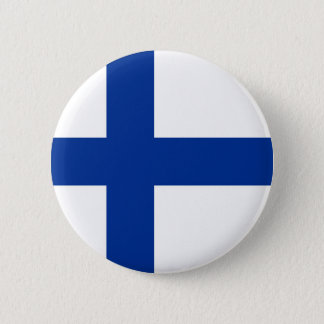 Bóton Redondo 5.08cm símbolo longo da bandeira de país de finland