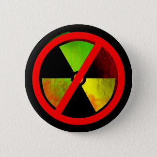 Bóton Redondo 5.08cm Símbolo radioativo das No-Armas nucleares do