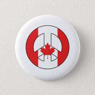 Bóton Redondo 5.08cm Sinal de paz canadense