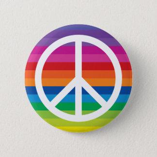 Bóton Redondo 5.08cm Sinal de paz do arco-íris
