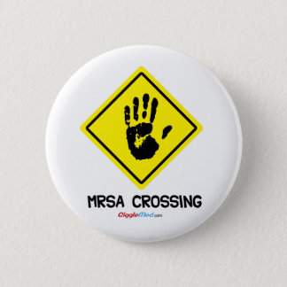 Bóton Redondo 5.08cm Sinal do cruzamento de MRSA