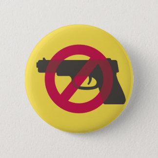 Bóton Redondo 5.08cm Sinal do símbolo da Anti-Arma da Anti-Violência do
